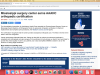 Becker's ASC Review Notes The Surgery Center Distinction