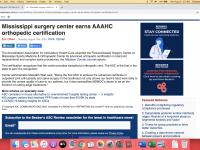 Becker's ASC Review Notes The Surgery Center Distinction